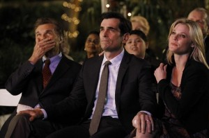 Fred Willard, Ty Burrell and Julie Bowen in Modern Family