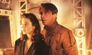 Jennifer Connelly and Billy Campbell in The Rocketeer