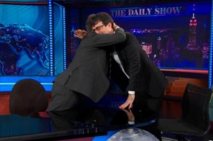 Jon Stewart and John Oliver say farewell on The Daily Show