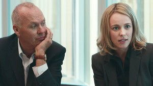 Michael Keaton and Rachel McAdams in Spotlight