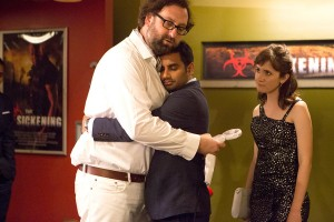 Eric Warheim, Aziz Ansari and Noël Wells in Master of None