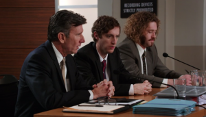 Matt McCoy, Thomas Middleditch and TJ Miller in Silicon Valley