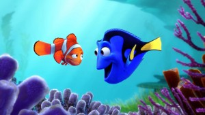 Marlin and Dory in Finding Dory