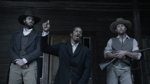Armie Hammer, Nate Parker and Jayson Werner Smith in The Birth of a Nation