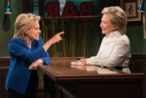 Kate McKinnon and Hillary Clinton on Saturday Night Live