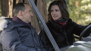 Tony Hale and Julia Louis-Dreyfus in Veep