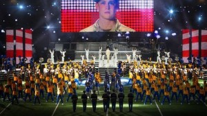 The cast of Billy Lynn's Long Halftime Walk