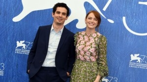 Damien Chazelle and Emma Stone of La La Land
