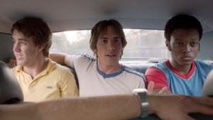 Temple Baker, Blake Jenner and Quinton Johnson in Everybody Wants Some