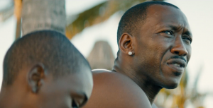 Alex Hibbert and Mahershala Ali in Moonlight
