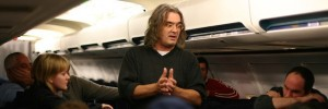 Paul Greengrass on the set of United 93