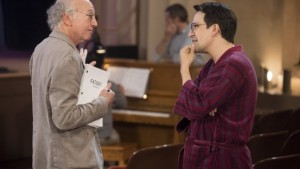 Larry David and Lin-Manuel Miranda in Curb Your Enthusiasm