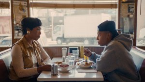 Angela Bassett and Lena Waithe in Thanksgiving