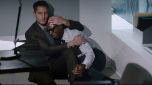 Justin Hartley and Sterling K. Brown in This Is Us