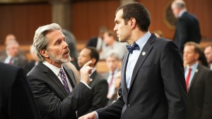 Gary Cole and Timothy Simons in Veep