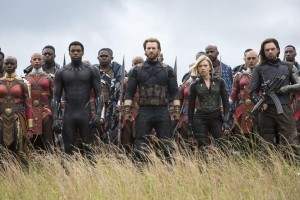 Some of the massive cast of Avengers: Infinity War