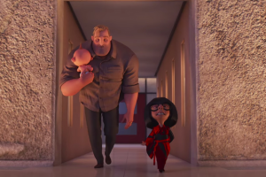 Jack-Jack, Bob and Edna of The Incredibles