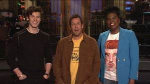 Shawn Mendes, Adam Sandler and Leslie Jones on Saturday Night Live