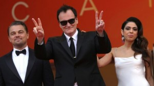 Leonardo DiCaprio, Quentin Tarantino and wife Daniella at the Cannes premiere of Once upon a Time in Hollywood
